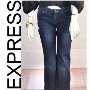 EXPRESS DARK BLUE BLUE JEANS BOOT CUT